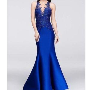 Terani Couture royal blue Trumpet  prom dress